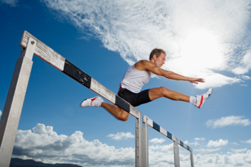 jumping hurdles - How anger can sap your will power to give up smoking